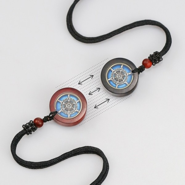 Engravable Sandalwood Attract Necklaces For Couples