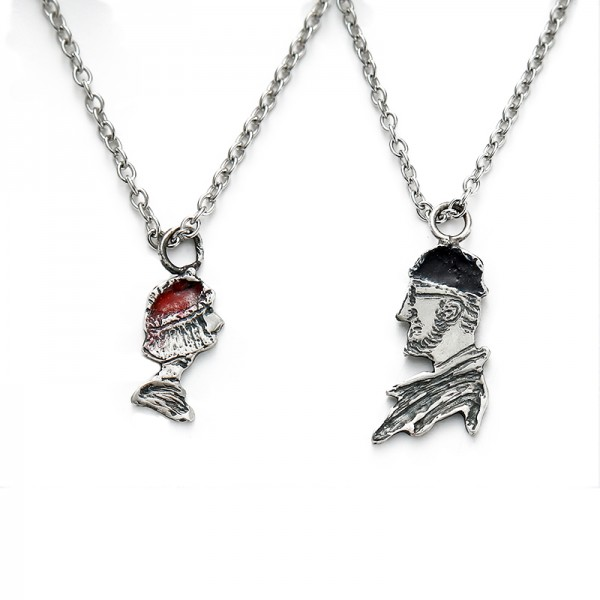 Leon And Matilda Matching Necklaces In Sterling Silver