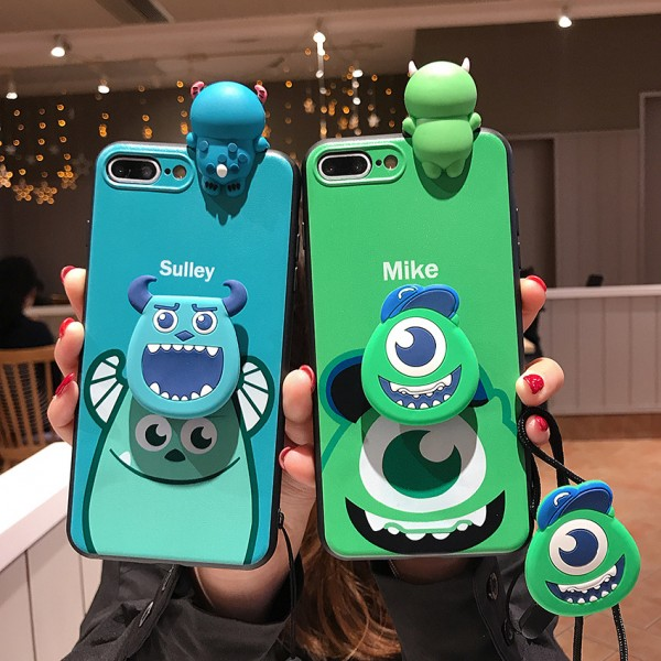 Cute Mike And Sulley iPhone Cases For Couples In TPU