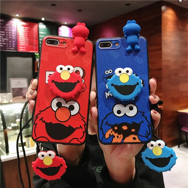 Cute Elmo And Cookie Monster iPhone Cases For Couples In TPU