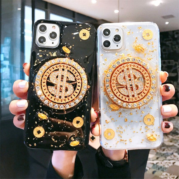 Rotatable Dollar iPhone Cases For Couples In Rubber