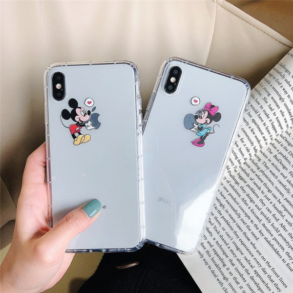 Mickey And Minnie White iPhone Cases For Couples In TPU