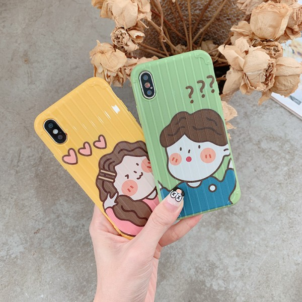 Cute Boy And Girl iPhone Cases For Couples In TPU