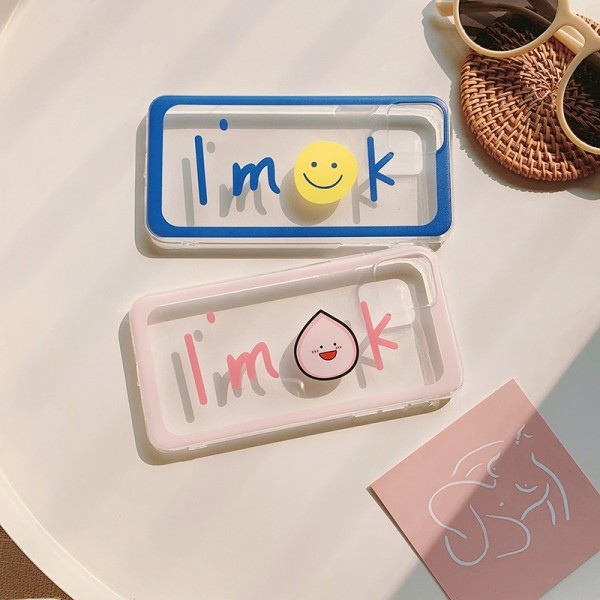 Cute I'm OK iPhone Cases For Couples In TPU