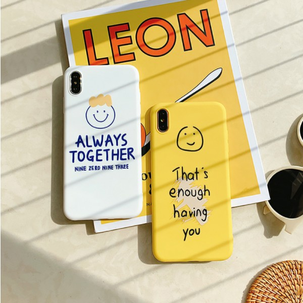 Cute Always Together iPhone Cases For Couples In TPU