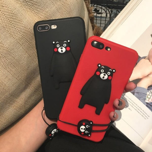 Cute Kumamon iPhone Cases For Couples In TPU
