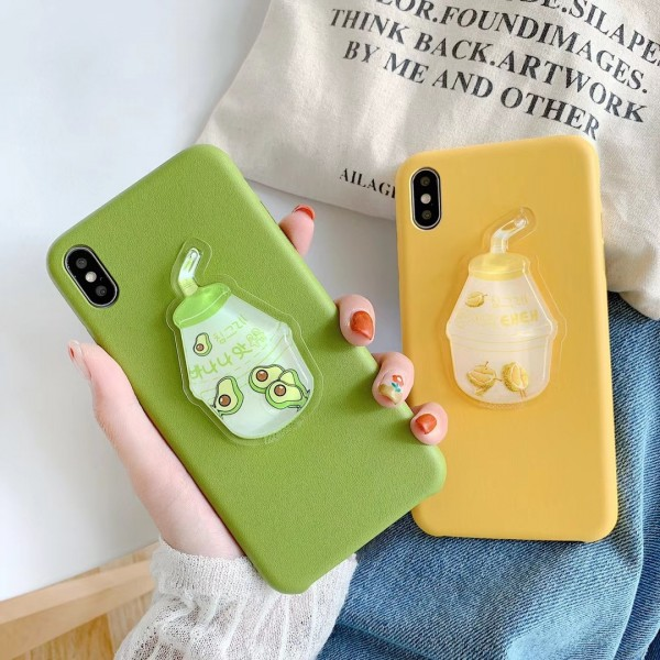 Cute Yogurt iPhone Cases For Couples In TPU