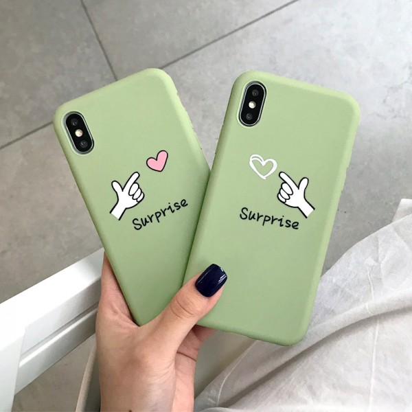 Cute Heart iPhone Cases For Couples In TPU