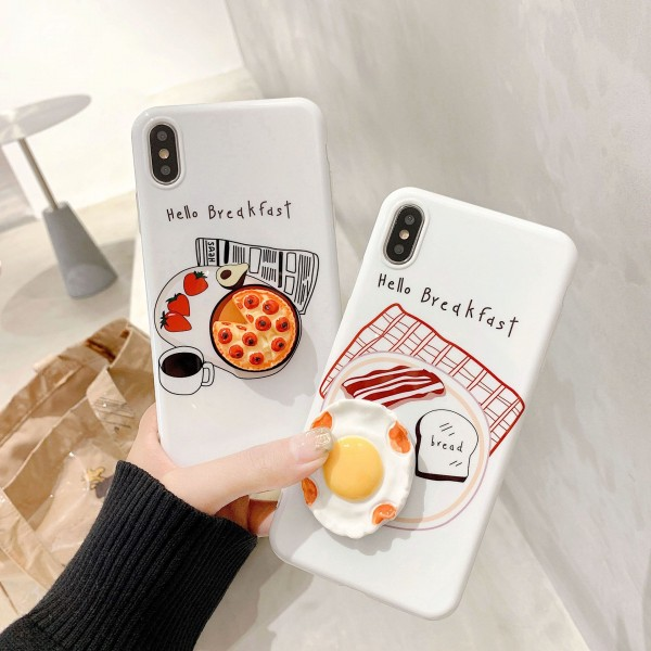 Hello Breakfast iPhone Cases For Couples In TPU