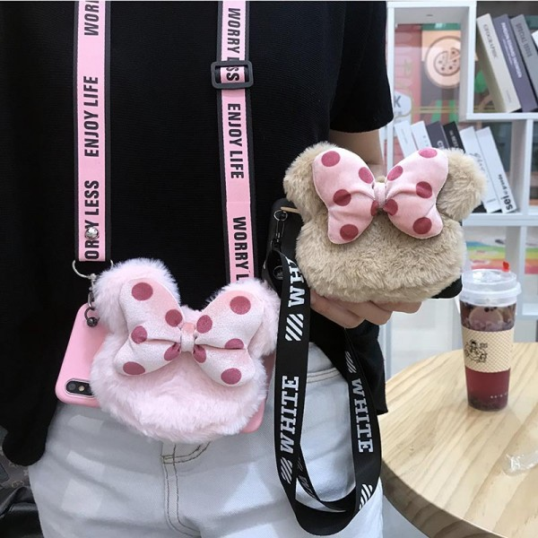 Cute iPhone Cases With Bow Wallet In TPU