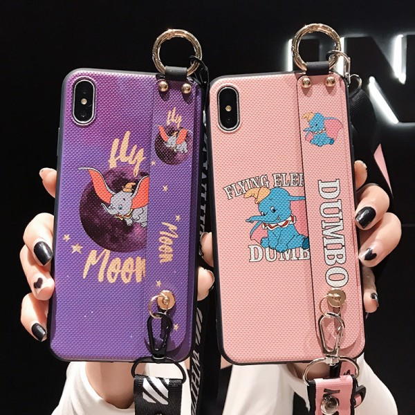 Cute Dumbo iPhone Cases With Crossbody Rope In TPU