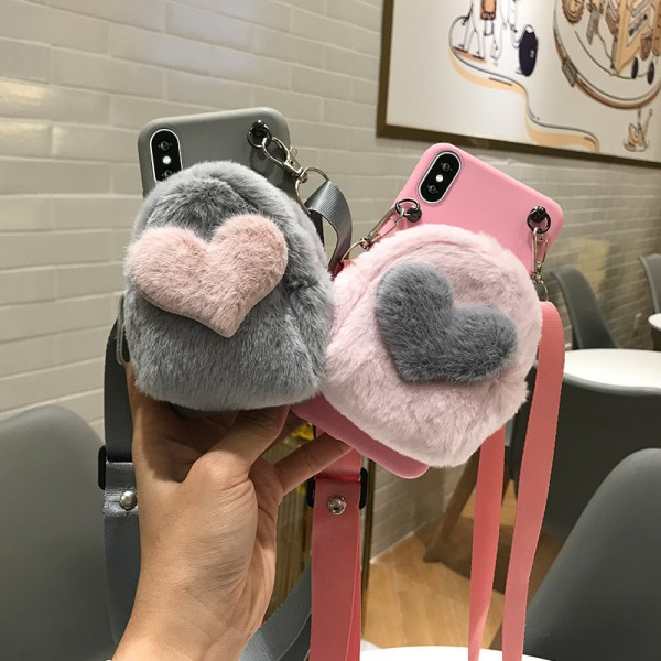 Cool iPhone Cases With Heart Shape Wallet In TPU
