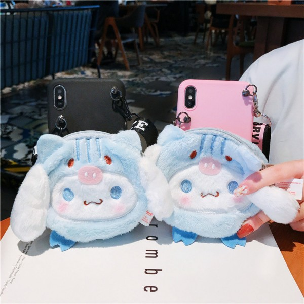 Cute iPhone Cases With Plush Wallet In TPU