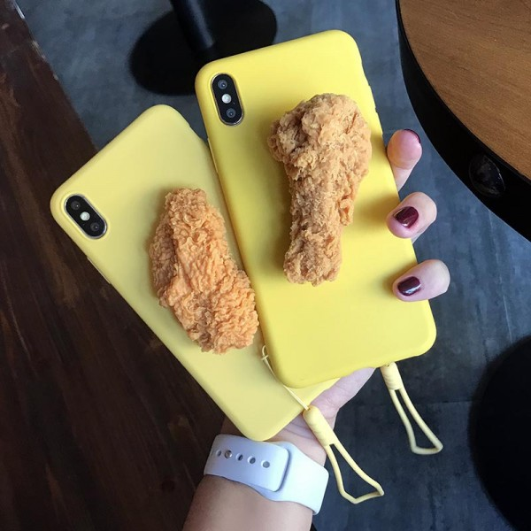 Chicken Nugget And Chicken Drumsticks iPhone Cases In TPU