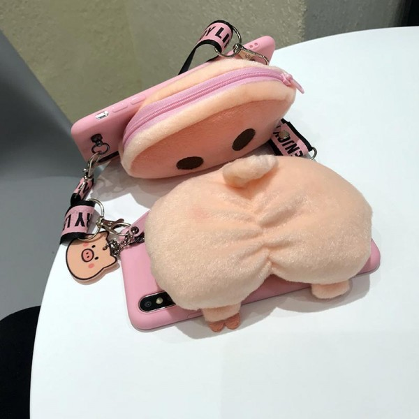 Pink iPhone Cases With Wallet In TPU