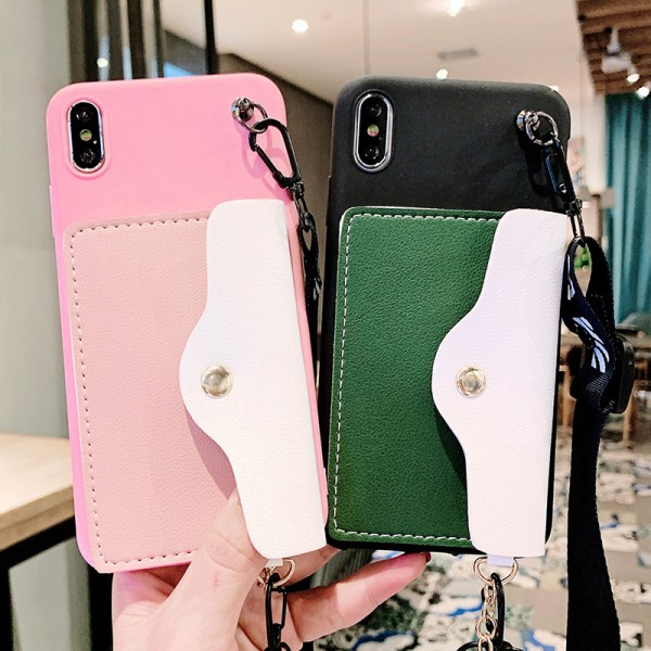 Simple iPhone Cases For Couples With Wallet In TPU