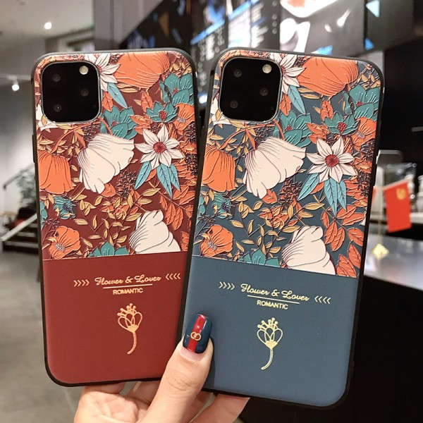 Flower And Lover Samsung Cases For Couples In TPU