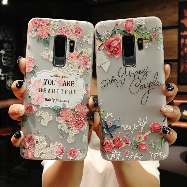 Rose Samsung Cases For Couples In TPU
