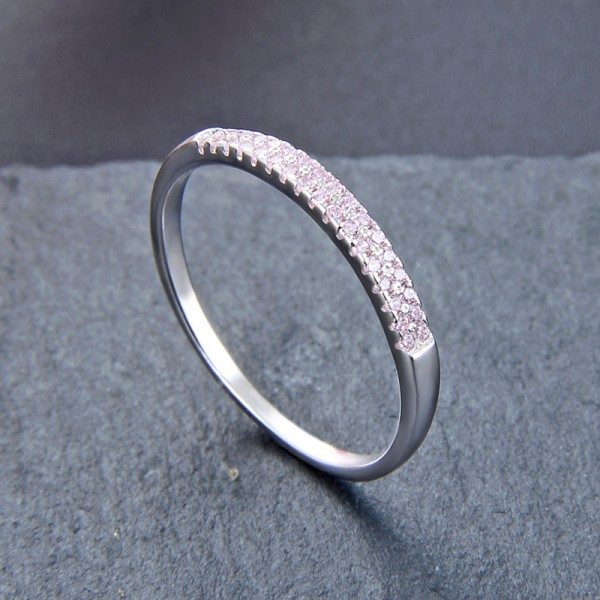 Engraved Simple Promise Band Ring For Her In Sterling Silver