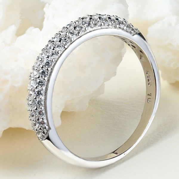 Engraved Promise Band Ring For Her In Sterling Silver