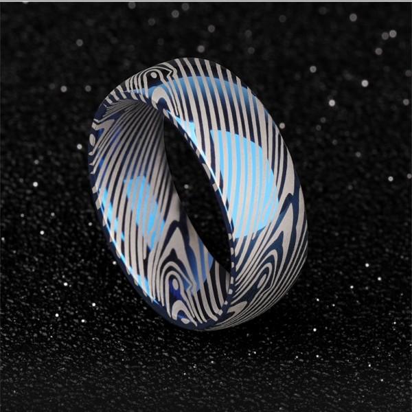 Personalized Zebra Stripes Tungsten Wedding Ring For Man