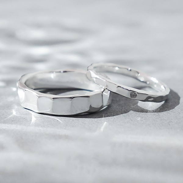 Sterling Silver Love Engraved Promise Ring For Couples