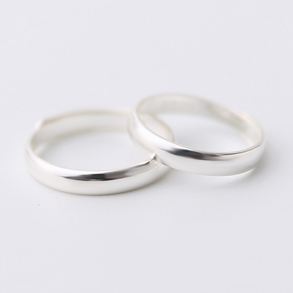 Engravable Simple Promise Band For Couples In Sterling Silver