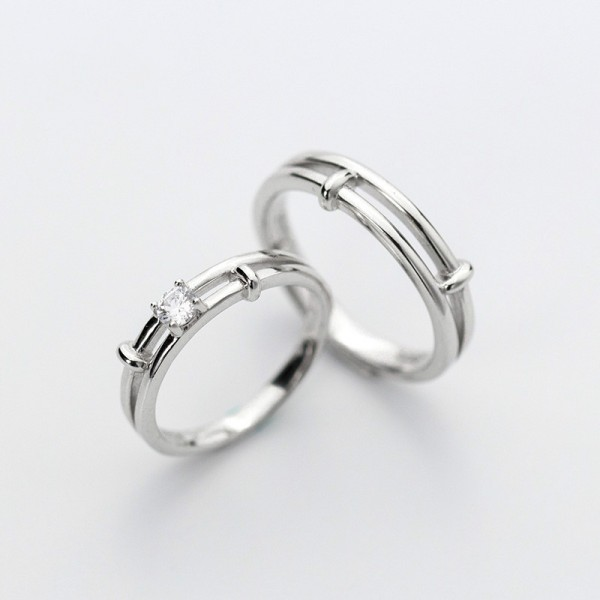 Adjustable Simple Knot Promise Ring For Couples In Sterling Silver