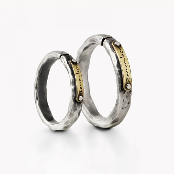 Original Imprint Promise Rings For Couples In Sterling Silver