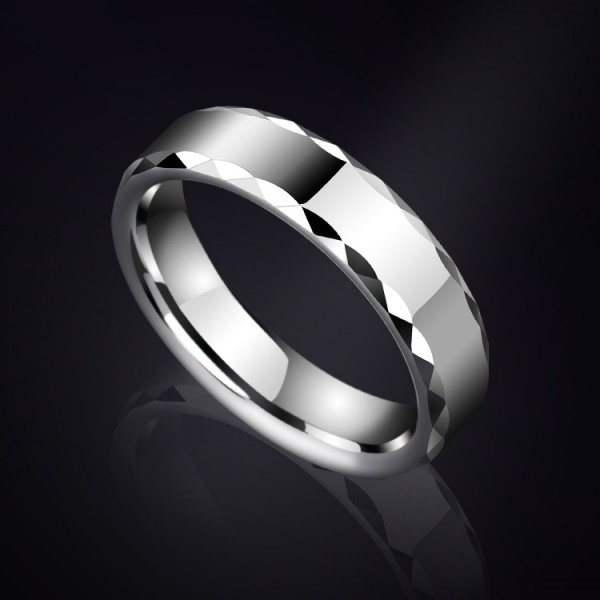 Engravable 5mm Simple Tungsten Carbide Ring For Men