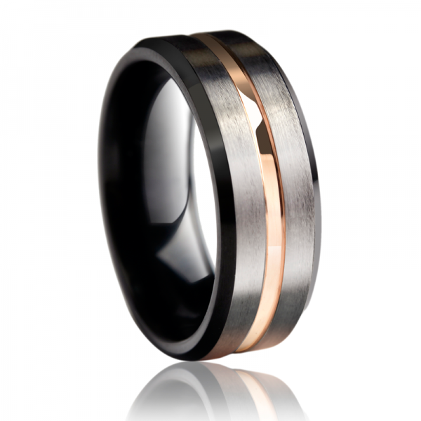 Personalized Men's Tungsten Carbide Ring