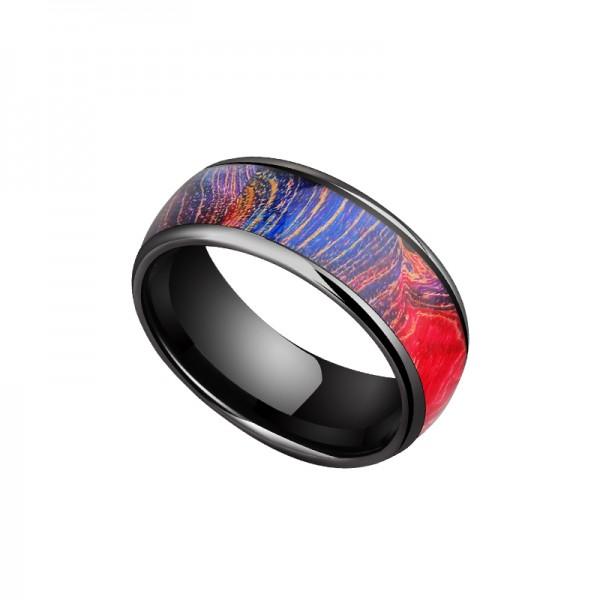 Unique Colorful Dream Tungsten Ring For Men