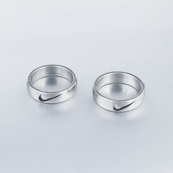 Personalized Just Do It Couples Rings Set In Titanium