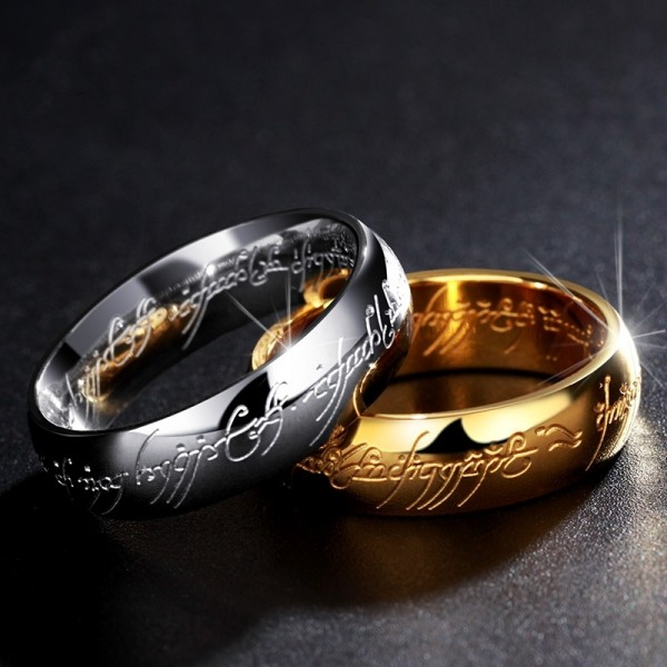 Unique Lord Of The Rings Wedding Bands In Titanium