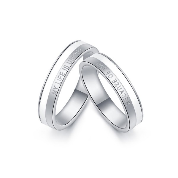My Life Is Unique Because Of You Matching Promise Rings In Sterling Silver