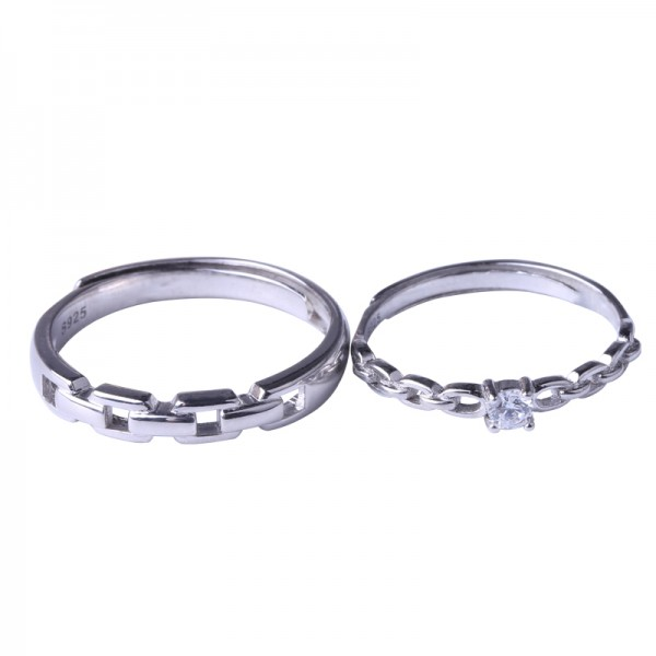 Engravable Matching Knot Promise Rings For Couples In Sterling Silver
