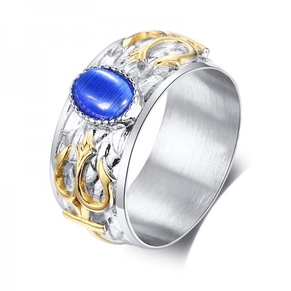 Unique 10mm Trident Promise Ring For Men In Titanium