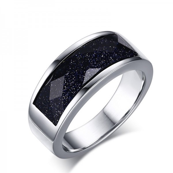 Engravable My Universe Promise Ring For Men In Titanium