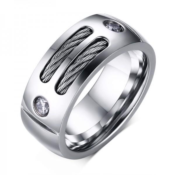 Engravable Knot Of Love Promise Ring For Men In Titanium