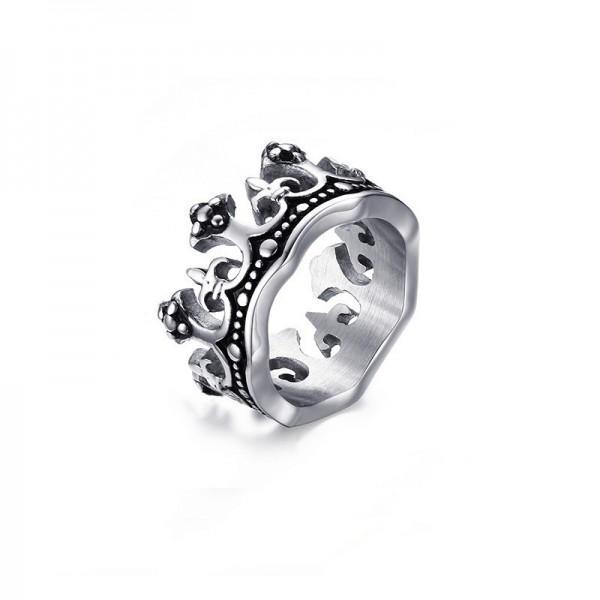Unique King Crown Promise Ring For Men In Titanium