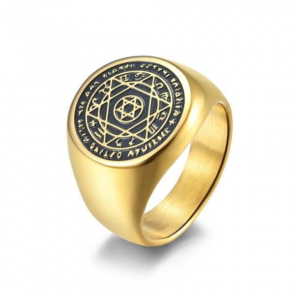 Engravable Constellation Wide Promise Ring For Men In Titanium