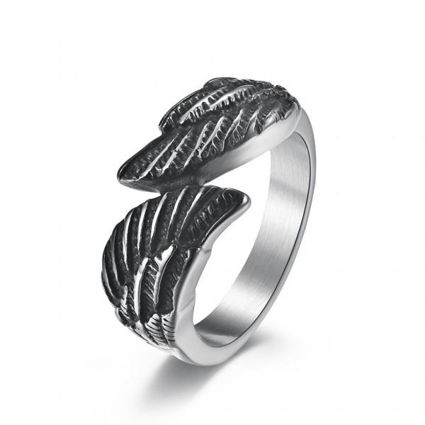 Unique Guardian Angel Promise Ring For Men In Titanium