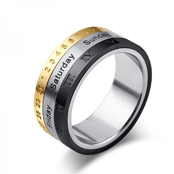 Engravable 8mm Love You Everyday Spinner Promise Ring For Men In Titanium