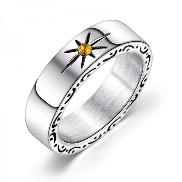 Engravable 6mm My Sun Promise Ring For Men In Titanium
