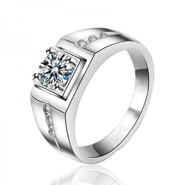 Engravable Wide Promise Ring For Men In Sterling Silver