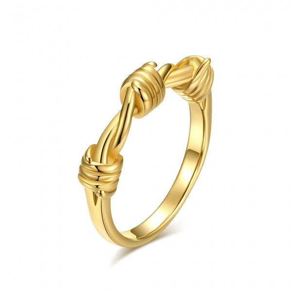 Engravable Knot Promise Ring For Men In Titanium