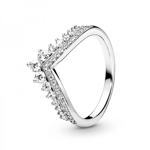 Engravable Queen Crown Promise Ring For Her In Sterling Silver