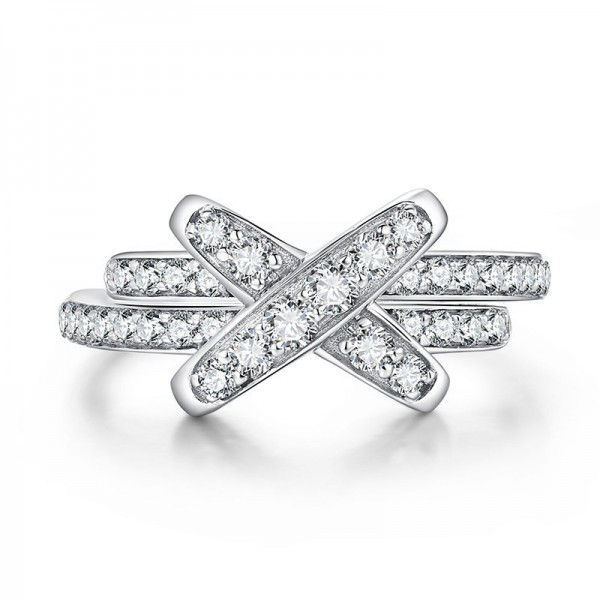 Unique Infinity Knot Promise Ring For Her In Sterling Silver