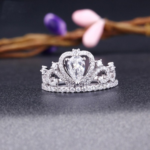 Oval Cut 1 Carat Crown Moissanite Ring In 18K White Gold